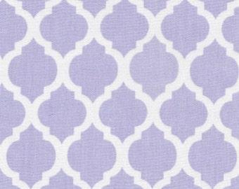 Juvie Moon Designs  Quatrefoil Designer Fabric in Aqua, Pink, Blue and Lavender