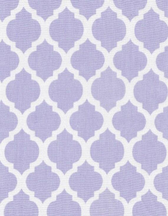 Juvie moon designs quatrefoil designer fabric in aqua pink for Moon pattern fabric
