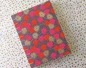 flower journal notebook, handmade blank book hardcover