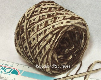 Warm Brown Chenilles, Combo of Soft Yarn in Super Cozy Colors, Cuddle Time Perfect, Bin E