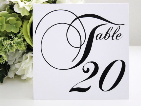 Table Numbers--Wedding--Reception-- Tent Style--The Elegant Collection-- Customize--Colors can be changed