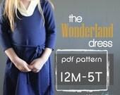 Wonderland Dress PDF pattern and tutorial 12m - 5t EASY SEW tunic dress jumper