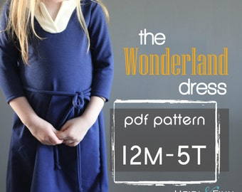 Wonderland Dress PDF pattern and tutorial 12m - 5t EASY SEW tunic dress jumper