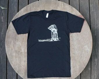 Star Wars T-Shirt AtAt Walker Hipster Design on American Apparel Black tee for Men / Unisex