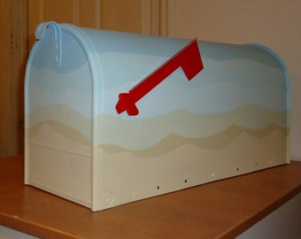 Hand Painted Mailbox, Personalized Mailbox, 6 color Minimalist Mailbox, Abstract mailbox, Home Decor, Great Gift!