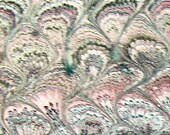 marbled paper, Marmerpapier, Papel marmolado,  Bookbinding  paper, scrapbooks, 19,5