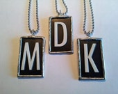 Intial Dog Tag Necklace, Mailbox Letter, Unisex