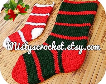 Christmas Stocking Comes in 2 Sizes This lisiting is for one stocking
