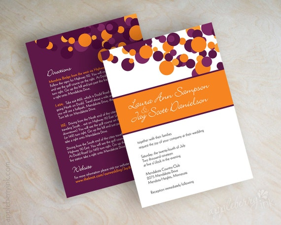 Purple And Orange Wedding Invitations and get inspiration to create nice invitation ideas