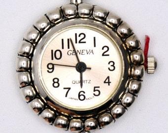 Pink Watch Face | Round Watch Face | Silver Watch Face | Ladies Watch Face | Wrist Watch Face | Beading Watch Face | Watch Face - WF00059