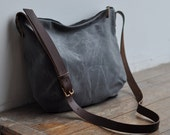 DAY BAG - waxed canvas/charcoal