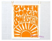 Guten Morgen Sonnenschein, German, Good Morning Sunshine, Baby Nursery Decor, Good Morning, Wall Art, Wall Decor, Kitchen Art, Kitchen Print