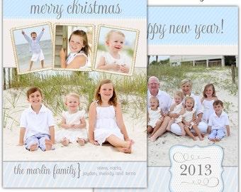 DIY Digital File U-Print Holiday Christmas card - Marlin Design