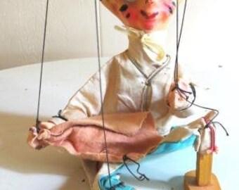 Vintage Matador Marionette Puppet Folk Art Doll