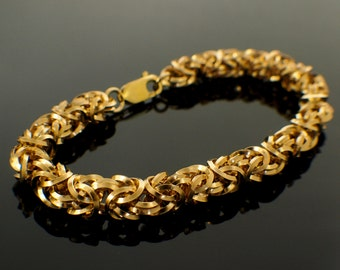 On Edge 14kt Gold Filled Bracelet - Beyond Basic Byzantine - Stunning Chainmaille Kit or Ready Made