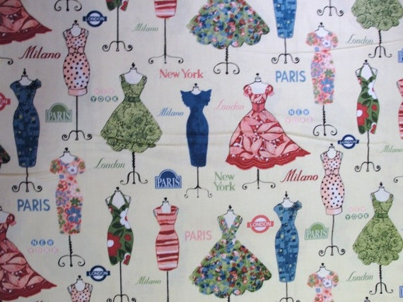 dress form print fabric yardage