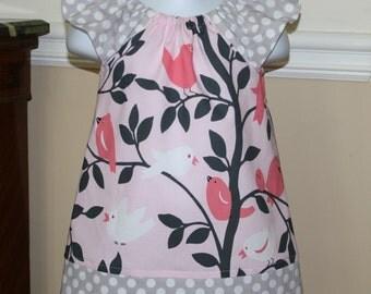 Pillowcase dress tweety pie birds with flutter sleeves toddler girls dresses