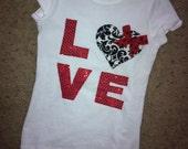 items similar to girls valentines shirt on etsy