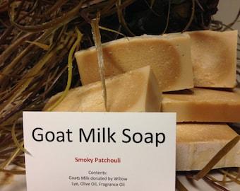 Smoky Patchouli Scented Goatmilk Soap