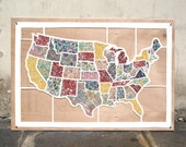 Liberty fabric map of the United States