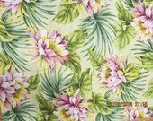 Marianne of Maui Hawaiian Quilting Fabric Beige with Mauve Proteus New Arrival Bolt