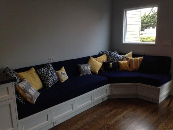 Custom Cushion Sewn Banquette Seat Bench Cushion With