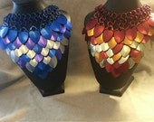 Fire and Ice Scale maille necklaces