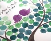 Rustic Wedding Guest Book SWEET CHESTNUT TREE - 200 Guest Signatures - Guestbook alternative wedding tree Art Print gift ideas