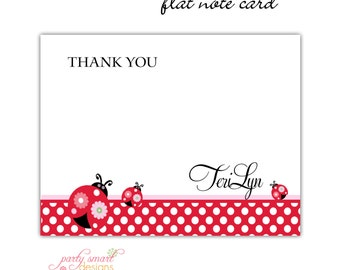 10 Flat or Folded Thank You Note Cards/TeriLynn design