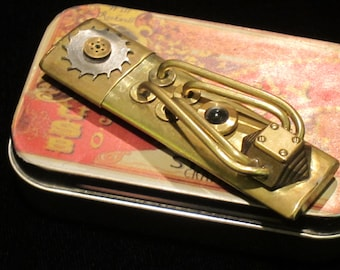 32Gb USB3.0 Pocket Memory, Steampunk flash drive
