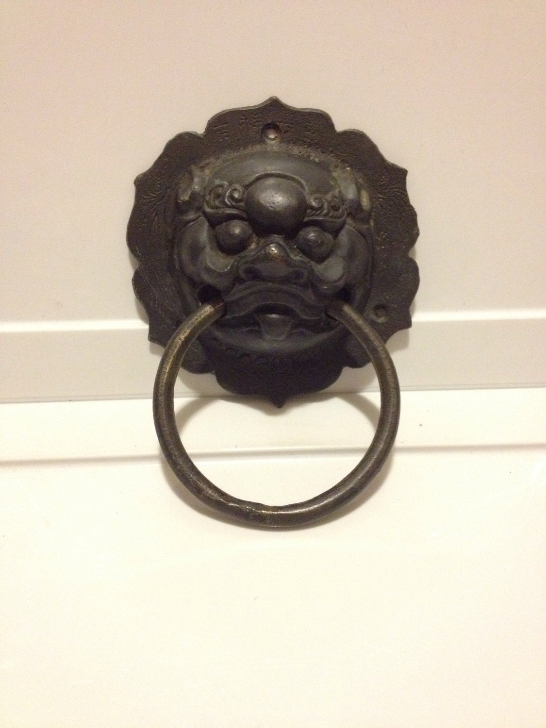 Vintage bronze chinese dragon door knocker - Dragon door knocker ...