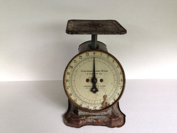 Vintage rustic kitchen scale by columbia for Rustic kitchen scale