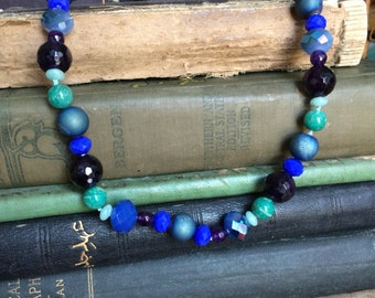 bluesy beaded necklace