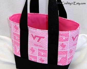 Small Tote - Virginia Tech (Pink/ Black)