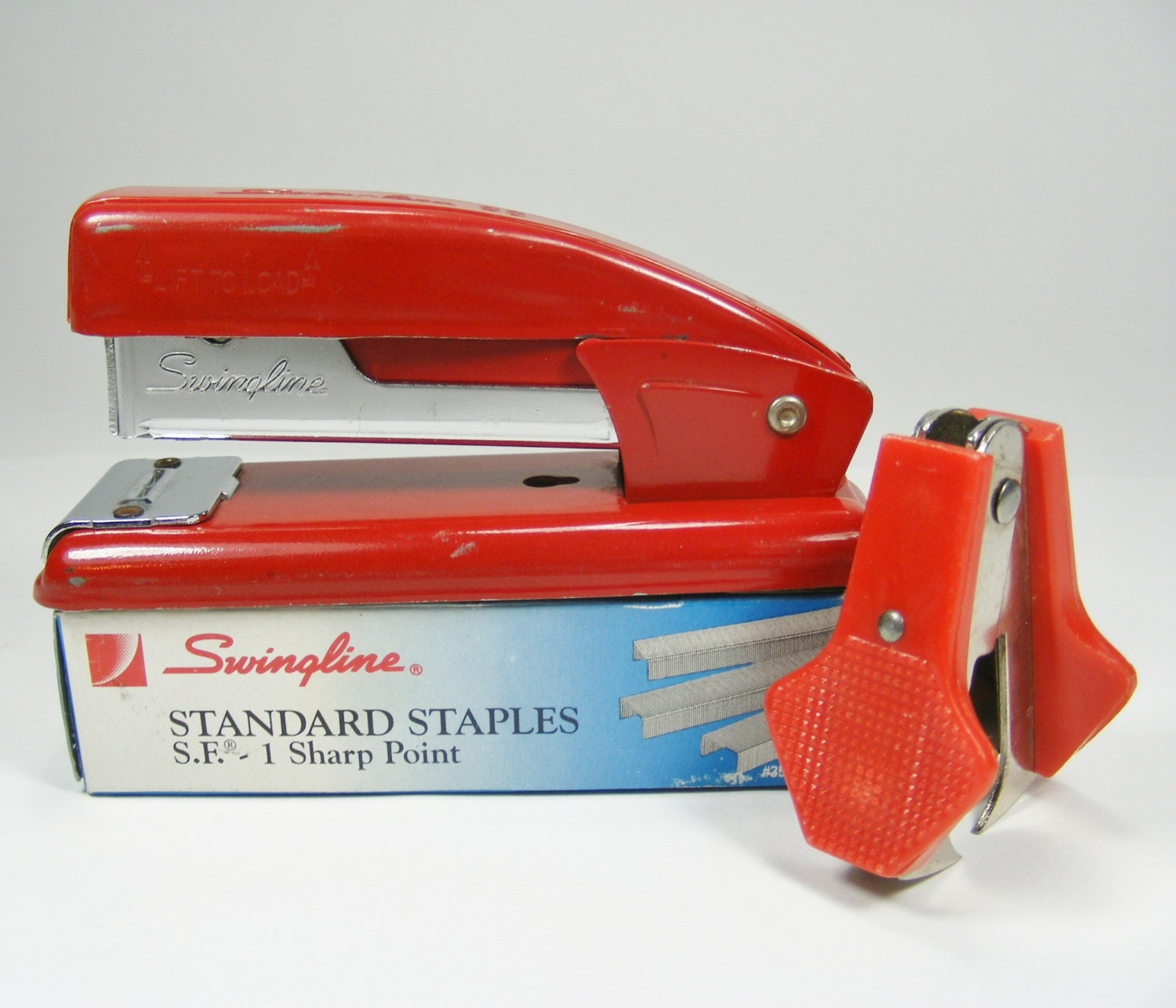 Red Swingline 99 Stapler With Full Box Of Staples By