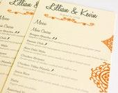 Mehndi Henna Wedding Menu Cards Indian Eastern Bohemian Custom Table Setting Sign Set 10