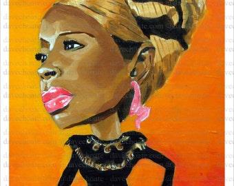 Mary J Blige Art Photo Print