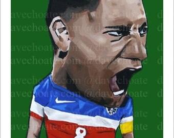 Clint Dempsey, USA World Cup Soccer Art Photo Print