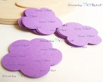 "30 Flower I Die cuts Size 2"" -Flower Labels -Paper Flower tags -Cardstock Flower die cuts -Paper tags -Paper Flower Labels"