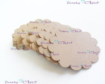 "18 Scalloped Circle Tags Size 3.50"" -Scalloped Circles die cuts -Cardstock tags -Scalloped labels -Paper die cuts -Paper Die cuts"