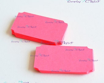 "150 Ticket Tag 1""x 2"" -Paper Rectangle Labels -Cardstock Small Tags -Paper die cuts -Rectangle Paper Labels -Tickets tags"