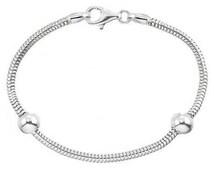 European Bracelet - Sterling Silver Charm Bracelet, Pandora Style Bracelet