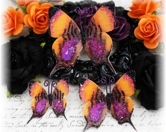 Dark Cauldron Butterfly Embellishments for Scrapbooking or Cardmaking, Tag Art,  Mixed Media, Mini Albums