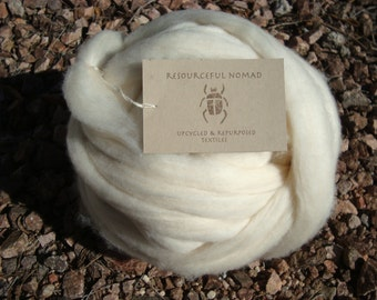 "Easy to Spin ""Earth Friendly"" White Pima Cotton Sliver, 100g"