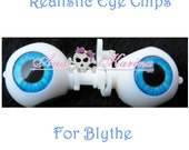 New Soft Resin OOAK REALISTIC custom Blythe eye chips set F30, by Ana Karina. UV laminated