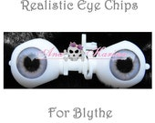 New Soft Resin OOAK REALISTIC custom Blythe eye chips set F15, by Ana Karina. UV laminated