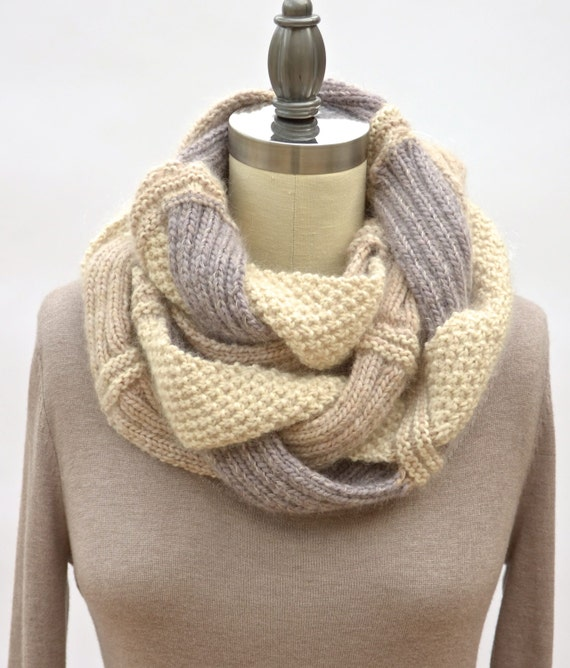 Challah Infinity Scarf PDF Knitting Pattern Instant Download