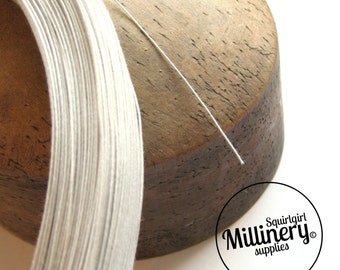 0.4mm (46 Gauge) Extra Fine Cotton Covered Millinery Wire (For Hat Making, Flower Making) - White