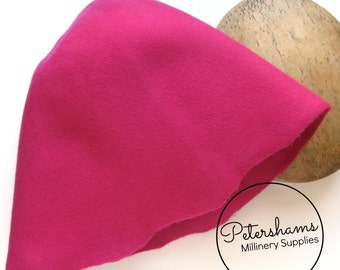 100% Wool Felt Cone Hood Hat Body for Millinery & Hat Making - Cerise Pink