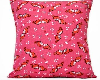 Birds Valentine Pillow Cover Love Pink Red Hearts Decorative 18x18